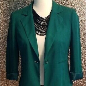 Decree Teal Blue Fitted Blazer